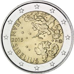 Obverse of Finland 2 euros 2015 - 150 Years since the Birth of Jean Sibelius