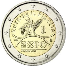 Obverse of Italy 2 euros 2015 - Expo 2015 World Exhibition