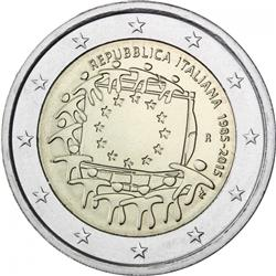 Obverse of Italy 2 euros 2015 - 30th anniversary of the EU flag