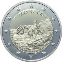 monegasque commemorative 2 euro coins honouring people and events. Black Bedroom Furniture Sets. Home Design Ideas