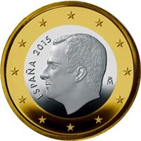 Image of Spain 1 euro coin