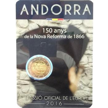 Obverse of Andorra 2 euros 2016 - New reformation of 1866