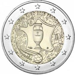 Obverse of France 2 euros 2016 - EURO 2016 Football Championship