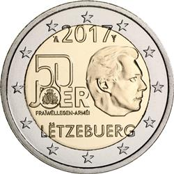 Obverse of Luxembourg 2 euros 2017 - Voluntary Military Service