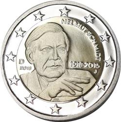 Obverse of Germany 2 euros 2018 - Helmut Schmidt