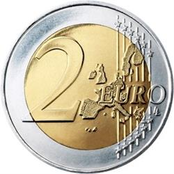 Reverse of Greece 2 euros 2009 - 10th anniversary of the EMU and the birth of the euro