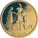 Olympic Torch Relay 2004 Gold coin A