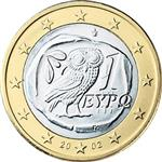 Obverse of Greek 1 euro coin