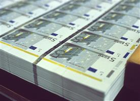 Euro banknotes production line