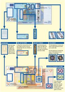 Euro banknote security features