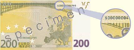 Country codes on Euro banknotes