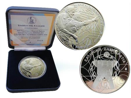 Obverse of Greece 10 euros 2011 - Special Olympics 2011