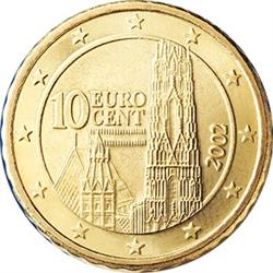 Obverse of Austria 10 cents 2005 - St. Stephen's Cathedral