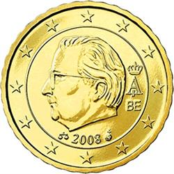 Obverse of Belgium 10 cents 2010 - Effigy and monogram of King Albert II