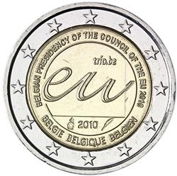 Obverse of Belgium 2 euros 2010 - Belgian Presidency of the Council of the European Union