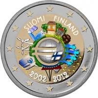 Image of Finland 2 euros colored euro