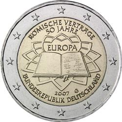 Obverse of Germany 2 euros 2007 - 50th anniversary of the Treaty of Rome