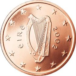Obverse of Ireland 5 cents 2002 - Celtic Harp