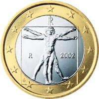 Image of Italy 1 euro coin