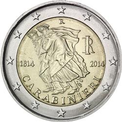 Obverse of Italy 2 euros 2014 - 200 Anniversary of the Carabinieri