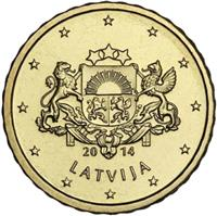Image of Latvia 10 cents coin