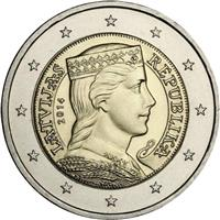 Image of Latvia 2 euros coin