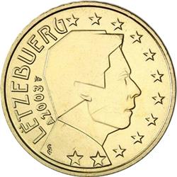 Obverse of Luxembourg 10 cents 2002 - The Grand Duke Henri