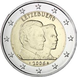 Obverse of Luxembourg 2 euros 2006 - Hereditary Grand Duke Guillaume