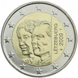 Obverse of Luxembourg 2 euros 2009 - Charlotte's Accession to the Throne