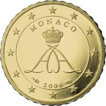 Obverse of Monaco 10 cents 2011 - Grimaldi seal