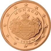 Image of Monaco 1 cent coin