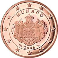 Image of Monaco 2 cents coin