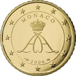 Obverse of Monaco 50 cents 2006 - Grimaldi seal