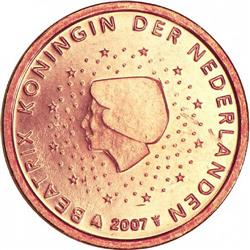 Obverse of Netherlands 1 cent 2013 - Queen Beatrix in profile