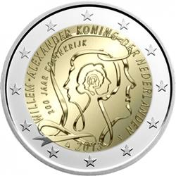 Obverse of Netherlands 2 euros 2013 - 200th Anniversary of the Kingdom of the Netherlands