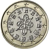 Image of Portugal 1 euro coin