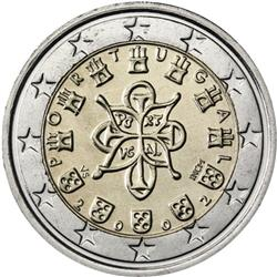 Obverse of Portugal 2 euros 2005 - Portuguese Royal Seal - AD 1144