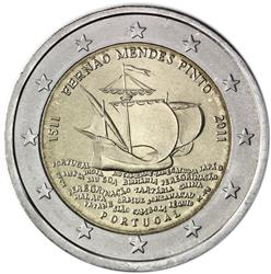 Obverse of Portugal 2 euros 2011 - Fernao Mendes Pinto