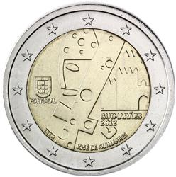 Obverse of Portugal 2 euros 2012 - Guimaraes, European Capital of Culture 2012
