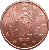 Image of San Marino 2 cents coin