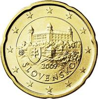 Image of Slovakia 20 cents coin
