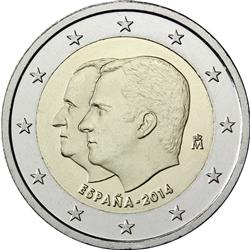 Obverse of Spain 2 euros 2014 - King Felipe VI's Succession to the Throne