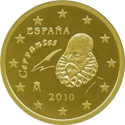 Obverse of Spain 50 cents 2014 - Miguel de Cervantes