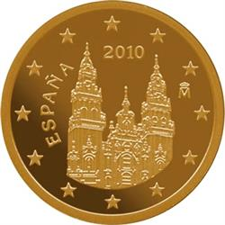 Obverse of Spain 5 cents 2012 - The Cathedral Santiago de Compostela