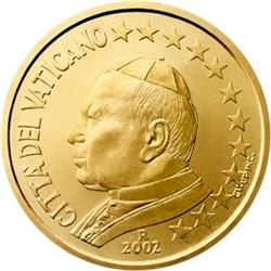 Obverse of Vatican 50 cents 2005 - Portrait of His Holiness Pope John Paul II