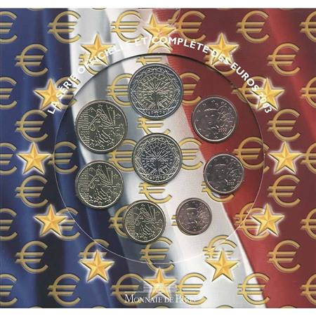 Obverse of France Official Blister 2003