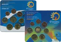 Obverse of Greek XIII Special Olympics World Summer Games KMS Set