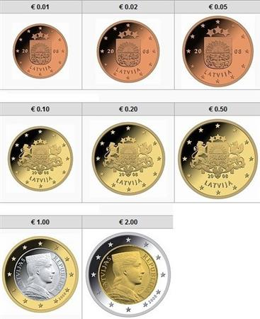 Obverse of Latvia Complete Year Set 2014