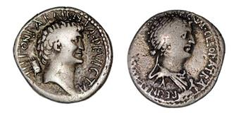 Cleopatra's image on the coin