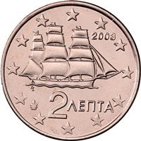 Image of Greece 2 cents coin